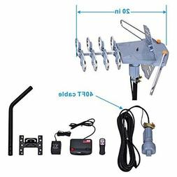 150 Miles Range Amplified Digital Outdoor TV Antenna with Mo