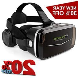 Pansonite VR Headset with Remote Controller,3D Virtual &