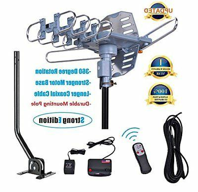 150 Miles Digital Outdoor Antenna with Pole4K/1080p