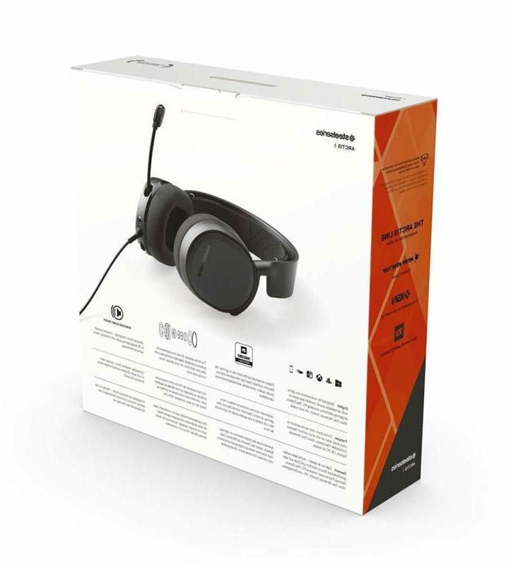 Gaming Headset for PlayStation 4 Xbox One Black