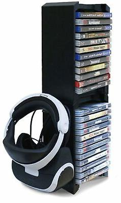 Skywin VR Headset & Game Holder Vertical Stand - 24 CD Game