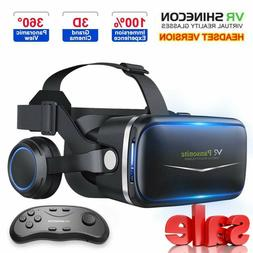 Pansonite Vr Headset with Remote Controller 3D Glasses Virtu