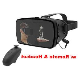 TZUMI Virtual Reality 3D Glasses VR Headset w/Controller for