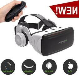 Virtual Reality 3D VR  Headset Glasses With Remote Controlle