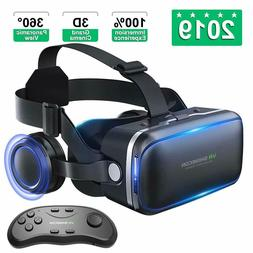 Virtual Reality Headset For iPhone Samsung Android With Head