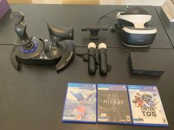 Playstation VR Headset and Flight Stick
