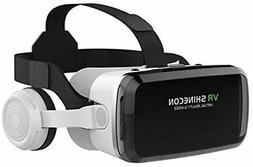 VR Headset with Bluetooth Headphones, Virtual Reality Headse