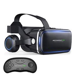 VR Headset with Remote Controller,HD 3D VR Glasses Virtual R