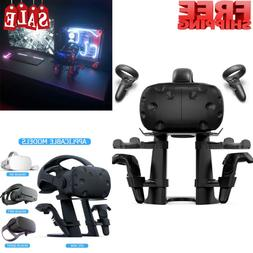 Delamu VR Stand, VR Headset Display w/ Game Controller Holde
